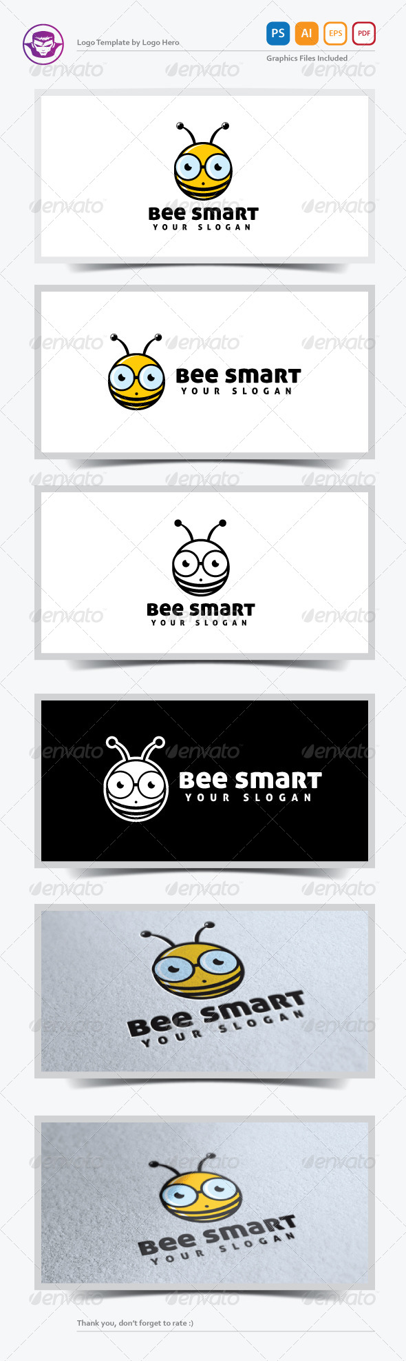 GraphicRiver Bee Smart Logo Template 5245655