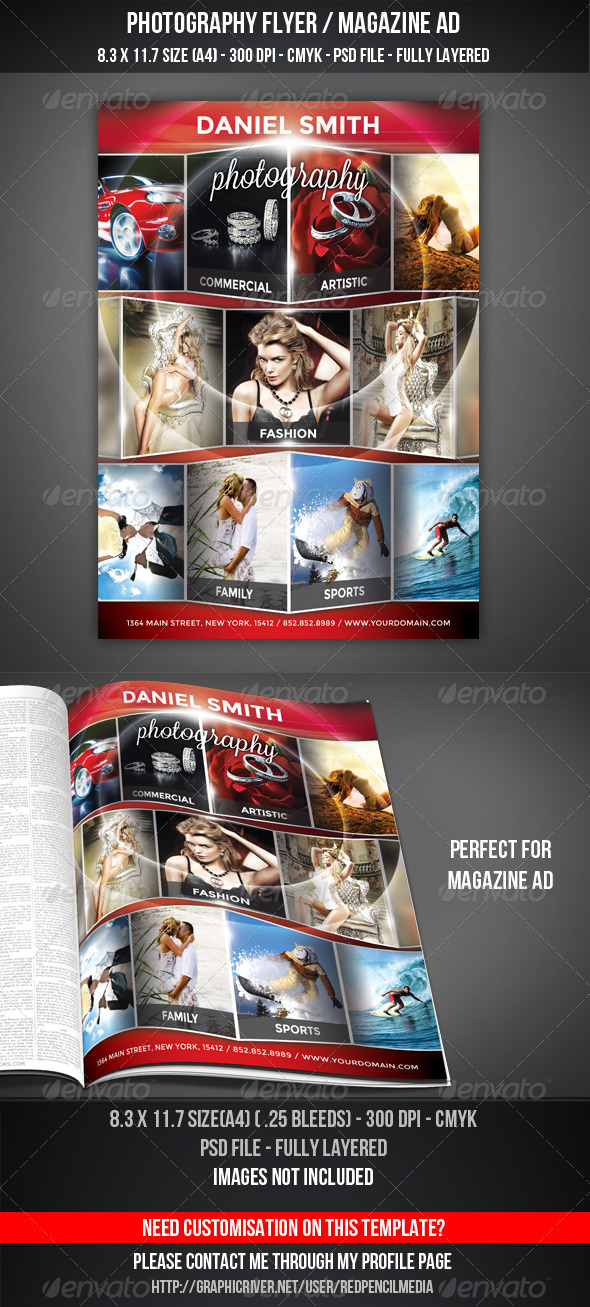 GraphicRiver Photography Flyer Magazine AD 5201447