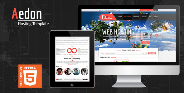 ThemeForest Aedon Responsive Creative HTML5 Template 5245313