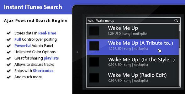 Ajax iTunes Search – WordPress Plugin (Media) images