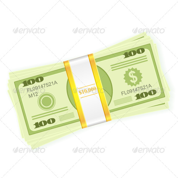 GraphicRiver Dollar Stack 5245818