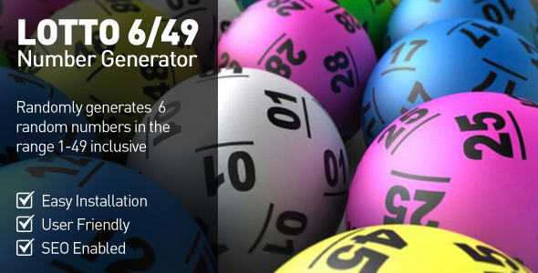 CodeCanyon Lottery Number Generator 6 49 5235044