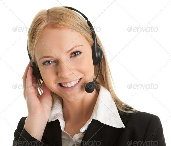 PhotoDune Cheerfull call center operator 539215