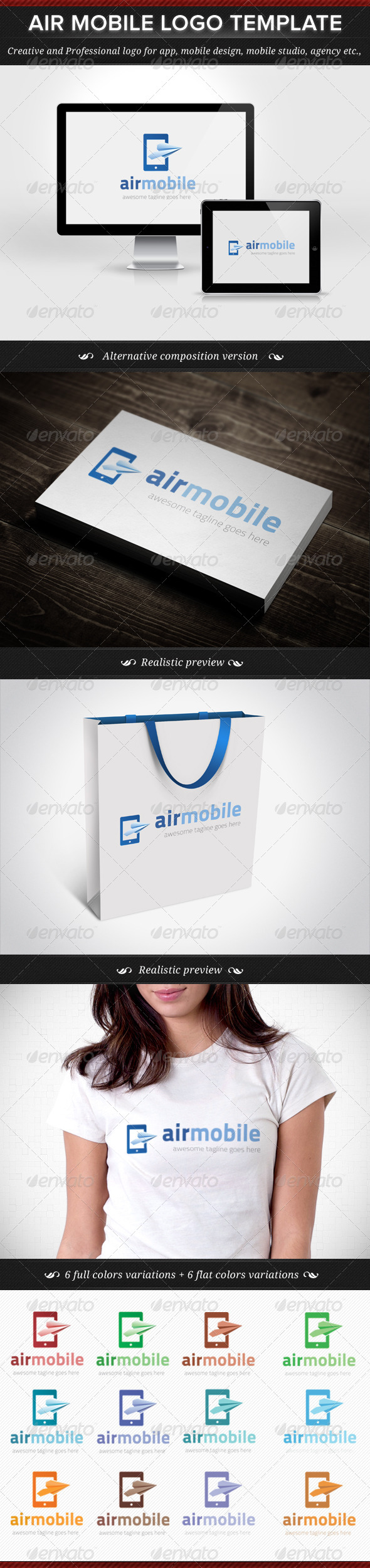 GraphicRiver Air Mobile Logo Template 5244225