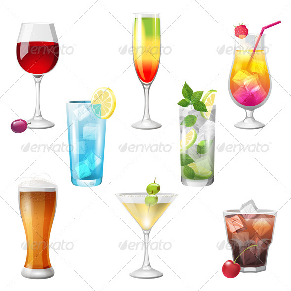 GraphicRiver Cocktails 5246206