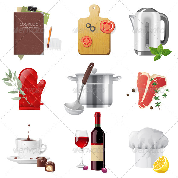 GraphicRiver Cooking Icons 5246249