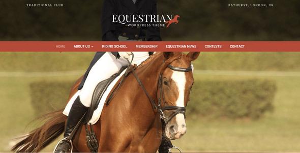 ThemeForest Equestrian WordPress Theme 5206121