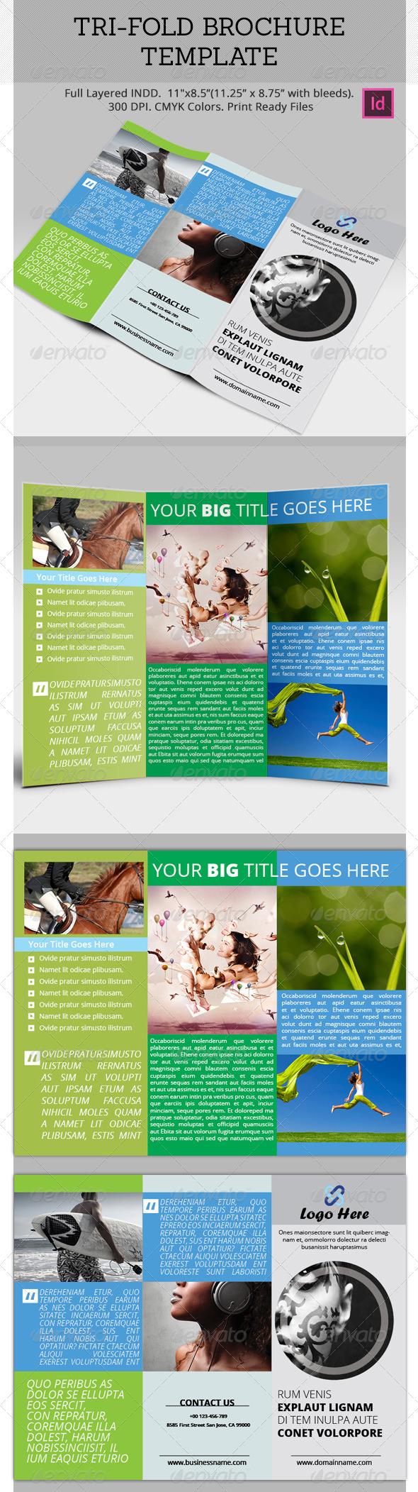Tri-Fold Brochure Template - Brochures Print Templates