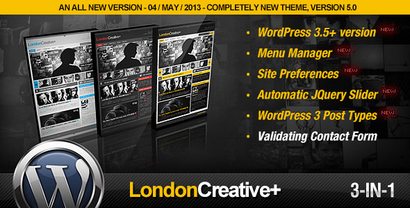 London Creative + (Portfolio & Blog WP Theme)