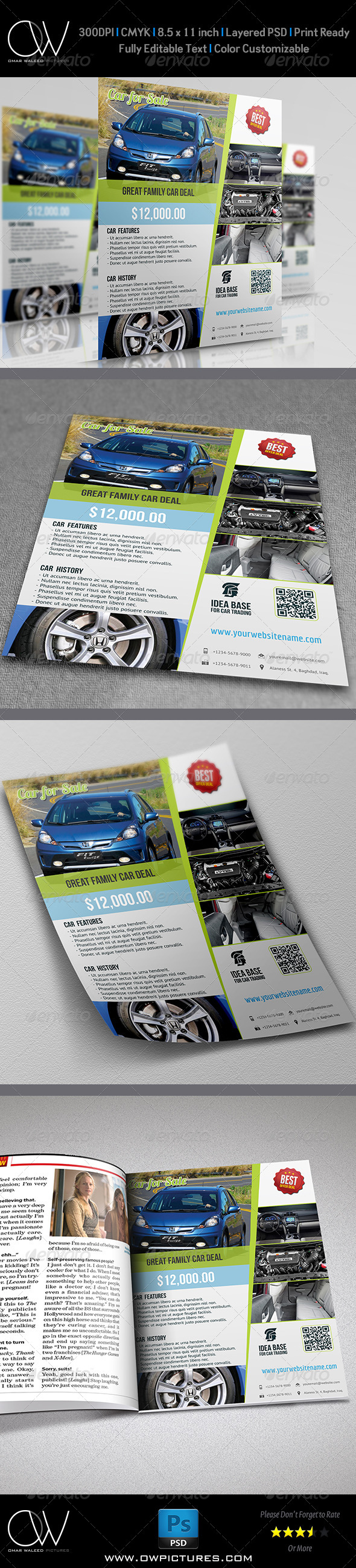 GraphicRiver Car for Sale Flyer 5247639