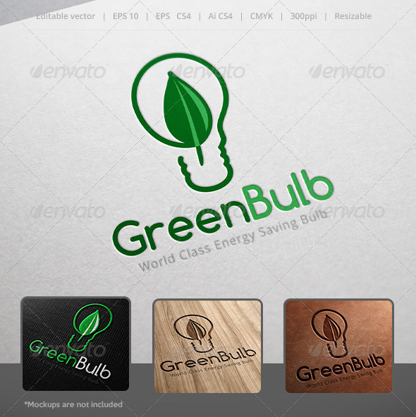 GraphicRiver Green Bulb Logo 5247706