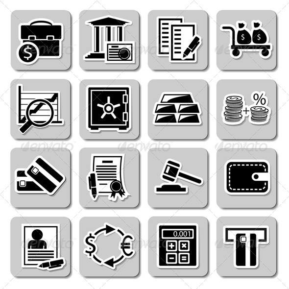 GraphicRiver Set of Banking Icons 5247711