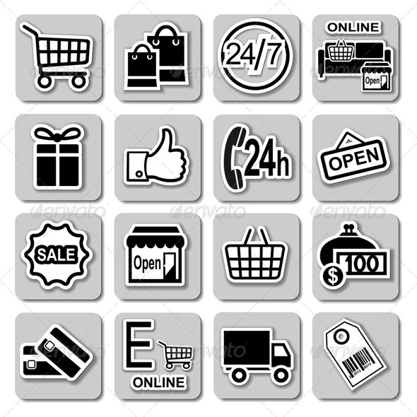 GraphicRiver Shopping Icons Set 5247721