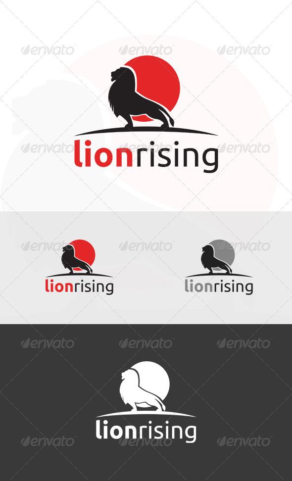 GraphicRiver Lion Rising Logo 5247726