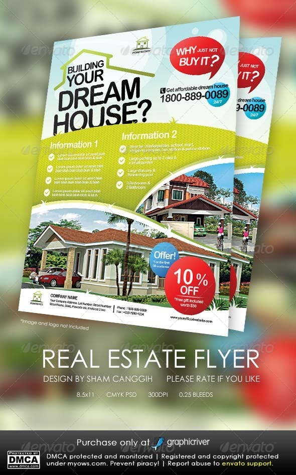 GraphicRiver Real Estate Modern Flyers 5208383