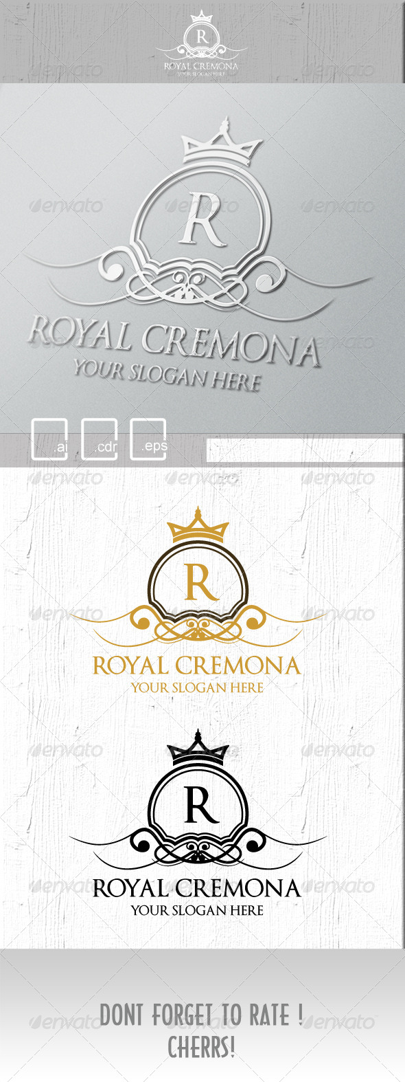 Royal Cremona Logo - Crests Logo Templates