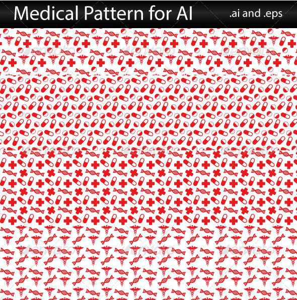 Seamless Pattern Medical - Textures / Fills / Patterns Illustrator