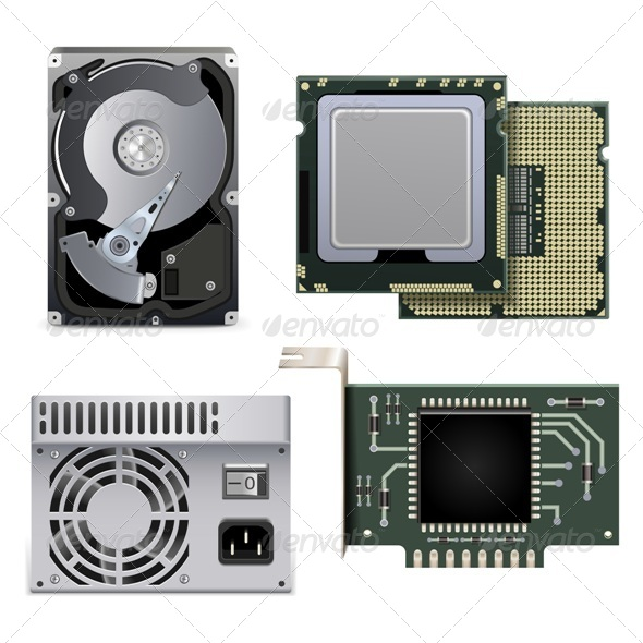 GraphicRiver CPU HDD and Power Unit 5248971