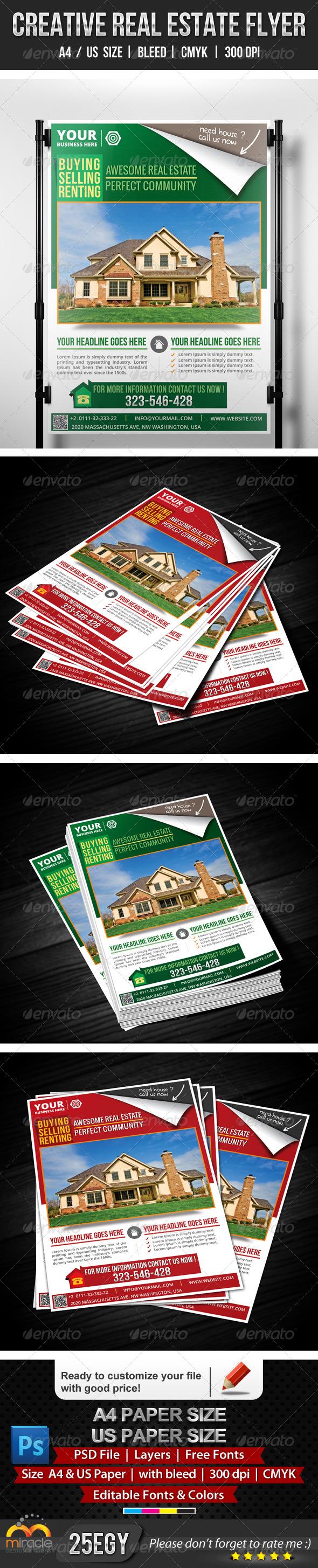 GraphicRiver Creative Real Estate Flyer 5249009