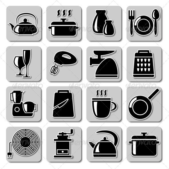 GraphicRiver Vector Kitchenware Icons 5249051