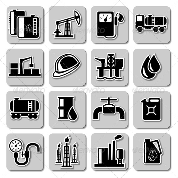 GraphicRiver Vector Oil Industry Icons 5249098