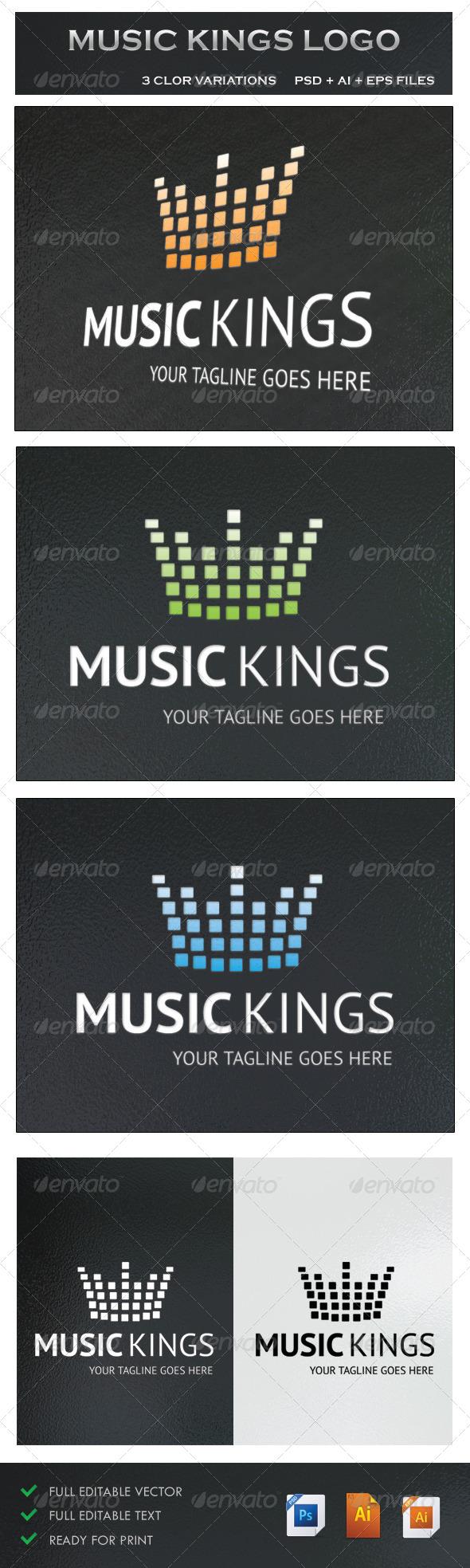 GraphicRiver Music Kings Logo 5242731