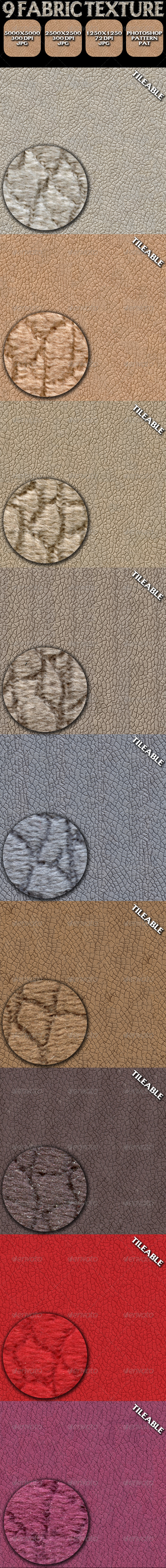 GraphicRiver 9 Fabric Texture Pack 5249164