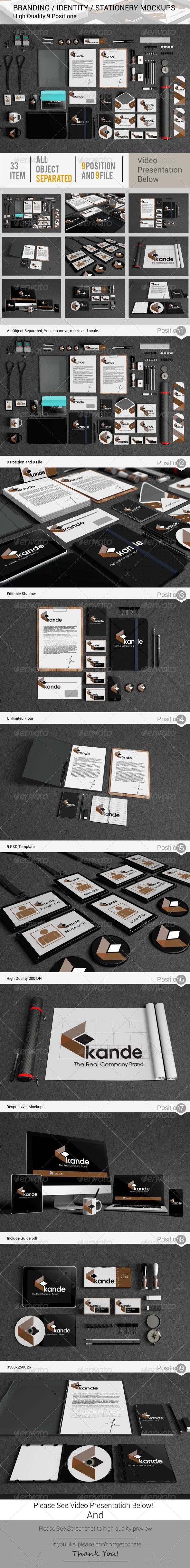Branding / Identity / Stationery Mockups - Print Product Mock-Ups