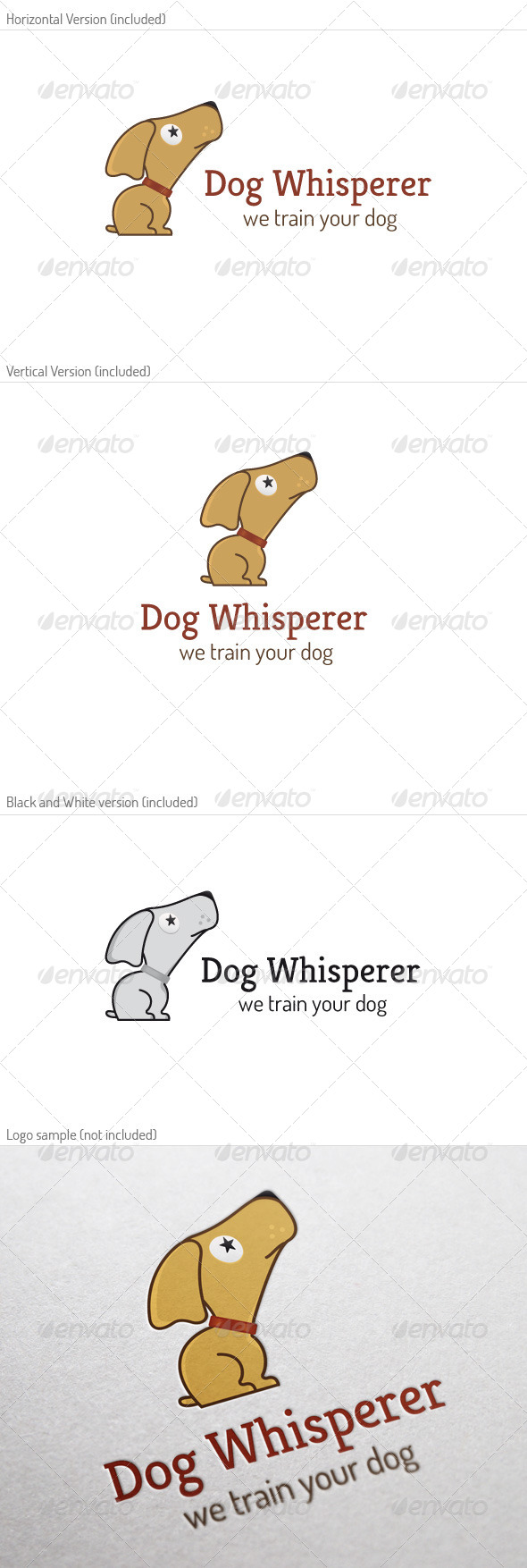 GraphicRiver Dog Whisperer Logo 5249675