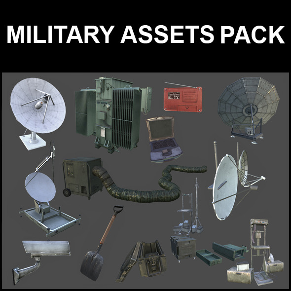 Millitary Assets Pack - 3DOcean Item for Sale