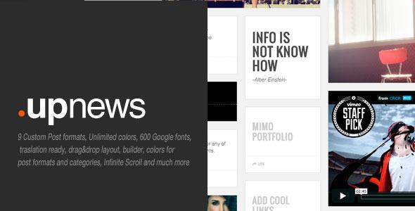 ThemeForest Upnews Multipurpose Cool Magazine 5237613