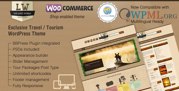World - Responsive Travel Woo Commerce Theme