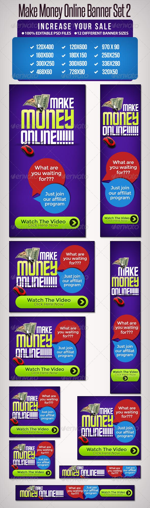 GraphicRiver Make Money Online Set 2 12 Google Standard Sizes 5250632