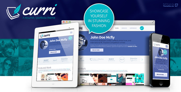 ThemeForest Curri Retina Ready CV Theme 5149358