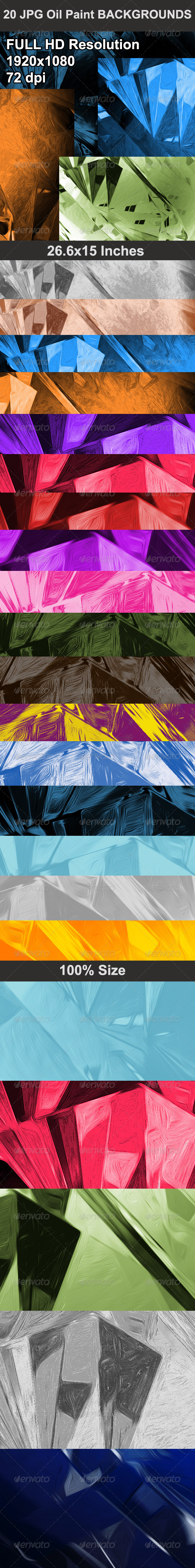 GraphicRiver Oil Paint Backgrounds 5250974