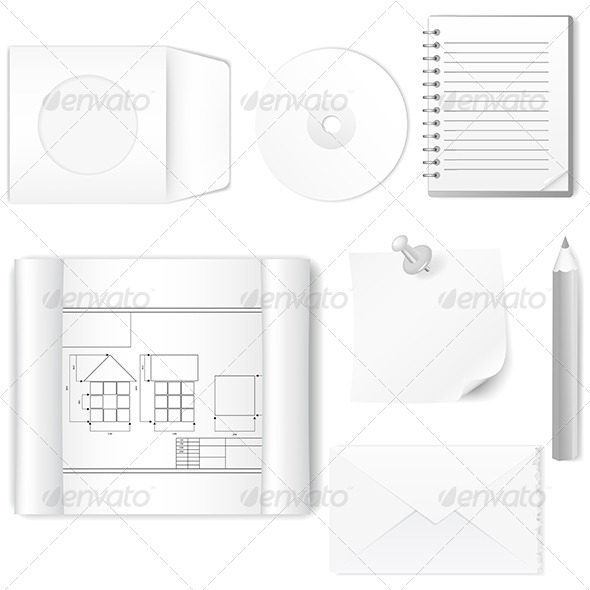 GraphicRiver Set of Office Items 5251230