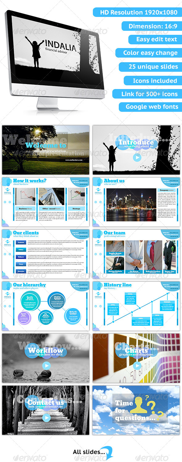 GraphicRiver Indalia Keynote Presentation 5243398