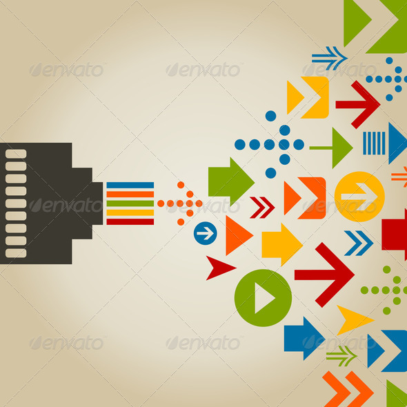 Connection the computer - Stock Photo - Images