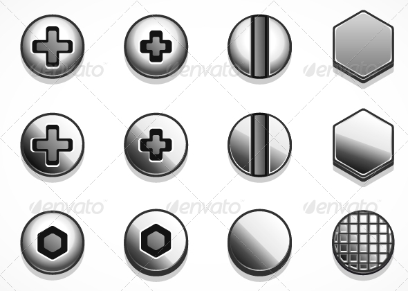 GraphicRiver Bolts and Rivets 5251668