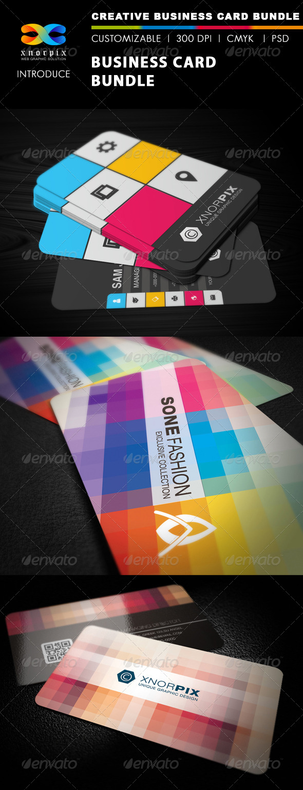GraphicRiver Business Card Bundle 3 in 1-Vol 15 5251704
