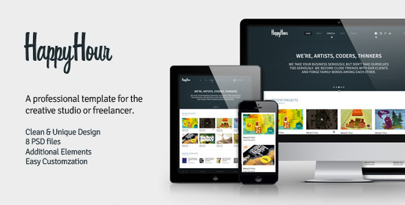 InHappyHour - Responsive Retina Ready HTML Template