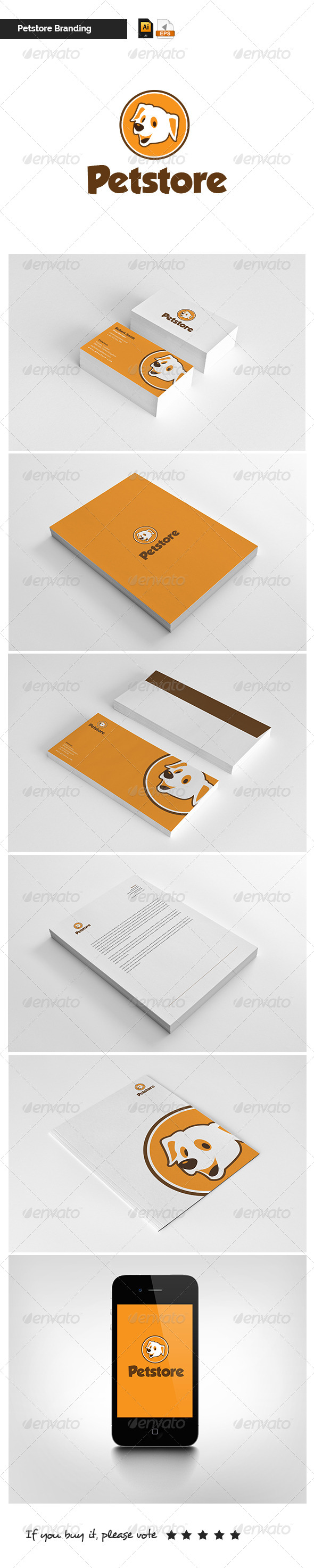 GraphicRiver Modern Stationary Petstore 5251736