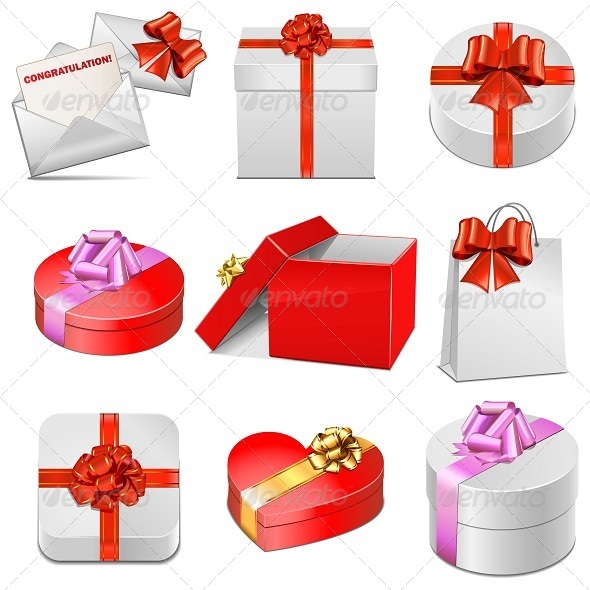 GraphicRiver Vector Gift Packing Icons 5251753