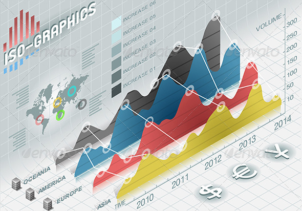 GraphicRiver Isometric Infographic Histogram Set Elements 5251769