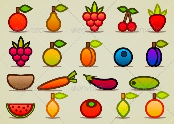 GraphicRiver Fruits and Vegetables 5251792