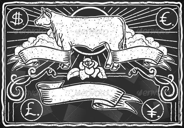 GraphicRiver Vintage Graphic Blackboard for Meat Menu 5251802