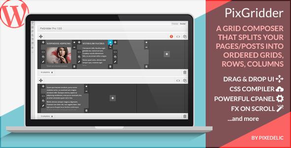 PixGridder Pro Page Grid Composer for WordPress (Utilities) images
