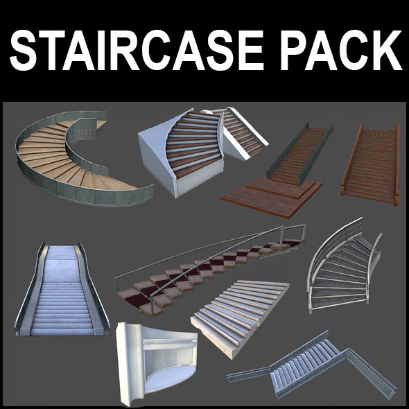 Stairs Pack - 3DOcean Item for Sale