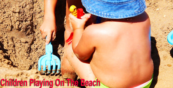 VideoHive Children Playing On The Beach 5252095
