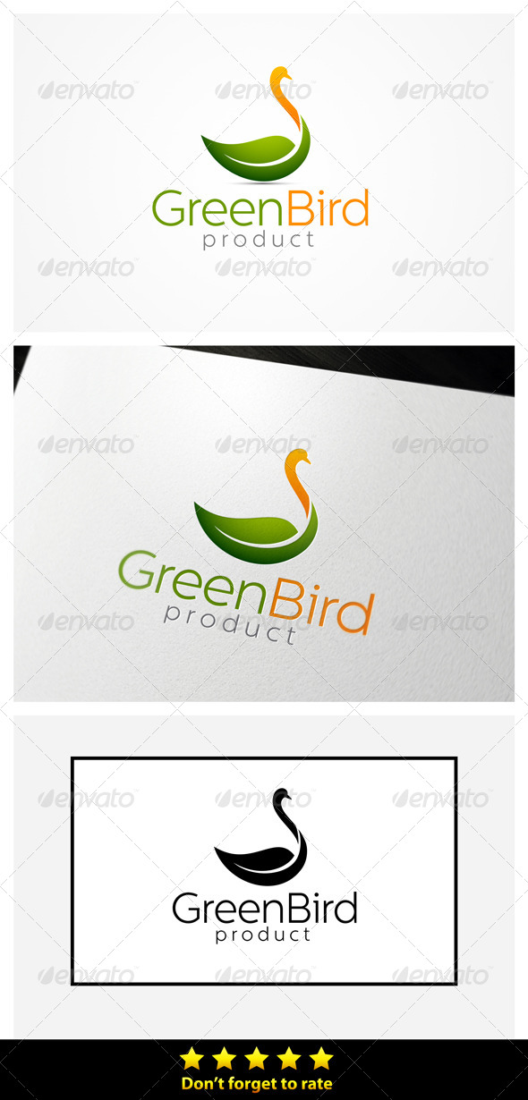 Green Bird - Animals Logo Templates